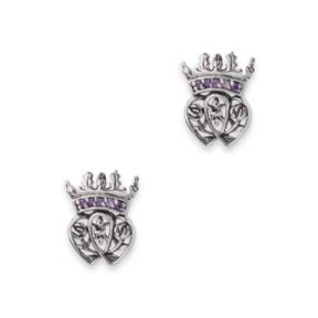Mary Queen of Scots Silver Stud Earrings with Amethyst colour stones 9639